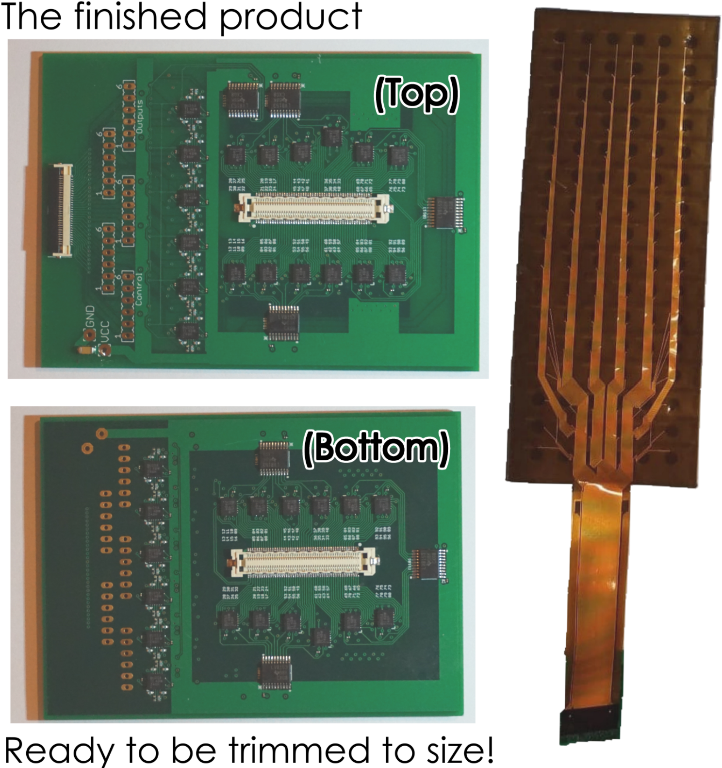 Sensor Sheet PCB and Flexible PCB Photos